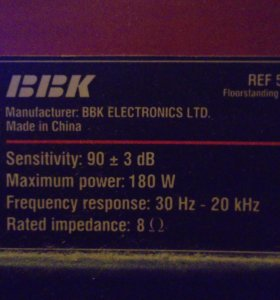 Колонки BBK REF 5F