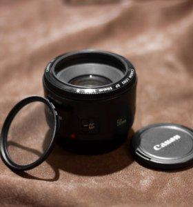 Объектив Canon EF 50mm, f1.8 II