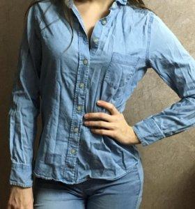 Джинсовая рубашка xs-s