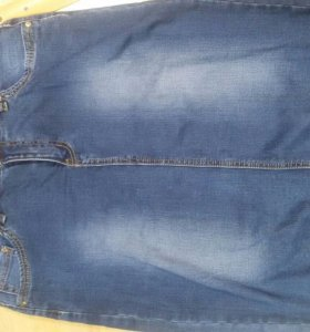 Джинсовая юбка 54-56
