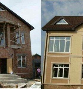 Фасад и кладка блока.