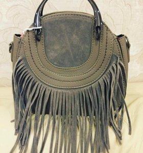 Новая сумка с бахромой