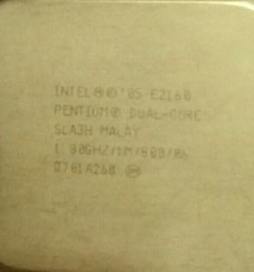 Процессор Intel E2160 1.8Ghz + кулер
