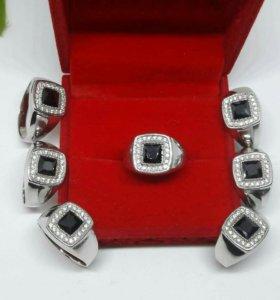 Перстень мужской серебро 925 пробы