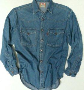 Рубашка джинсовая Левис all cotton. Штаты. 594