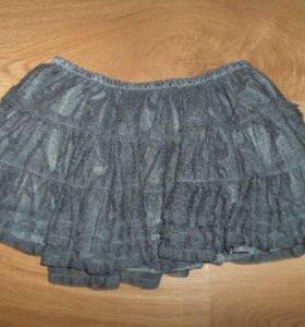 Детская серая пышная юбка