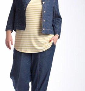 Синий женский жакет Авери