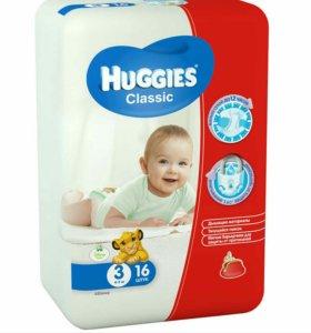 Подгузники Huggies classic(4-9кг),45шт