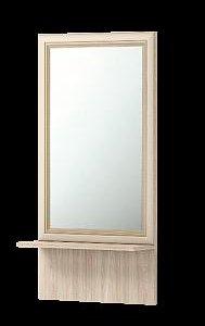 Зеркало настенное с полкой №21