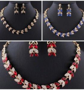Ожерелье и серьги. Комплекты