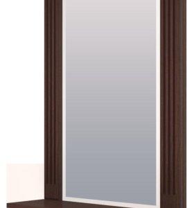 зеркало настенное с полкой
