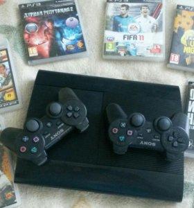 Sony PlayStation 3 500gb super slim+игры