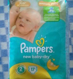 "Подгузники ""Pampers"" New baby dry (3-6 кг) 17шт."
