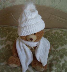 Шапка+ шарф новые