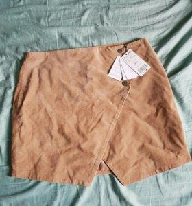 Новая замшевая юбка Mango
