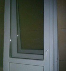 Дверь металлопластик. 2.05*77