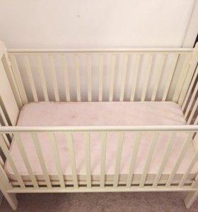 Кроватка Fiorellino Fiore, ортоматрац