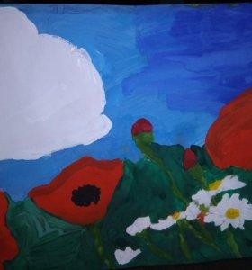 Картина молодого художника