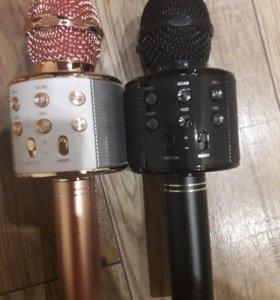 Микрофон караоке с динамиком беспроводной