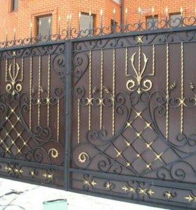 Ворота кованные + калитка.