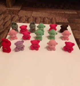 Бархатные игрушки из киндер сюрприза