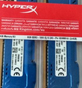 DDR3 1866MHz Kingston 2х4 Gb