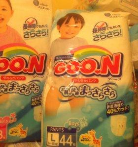 Гун goon L 9-14 кг памперсы трусики подгузники