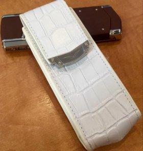 Чехол для Vertu Signature S Design Alligator White
