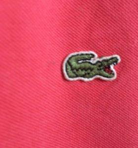 Розовая футболка/поло Lacoste