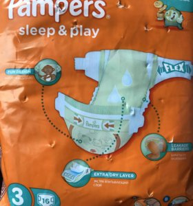 Pampers sleep and play памперс 3