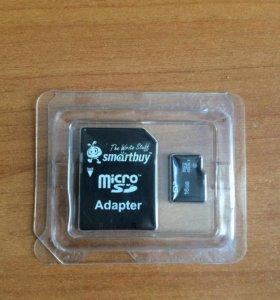 MicroSD на 16 гигов с адаптером