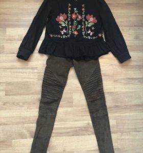 Легинсы и рубашка Zara