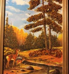 Картины с янтарём