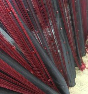 Тюль и шторы висюльки с бусинами