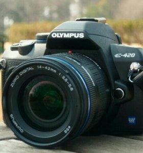 Olympus E-420 + вспышка Unomat B24auto