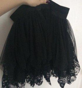 Шифоновая кружевная юбка