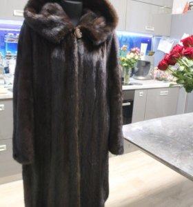 Норковая шуба королевского размера 58-64