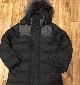 Куртка утеплённая на пуху, на рост 140-150 см