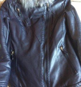 Отличное состояние(кожаная куртка)