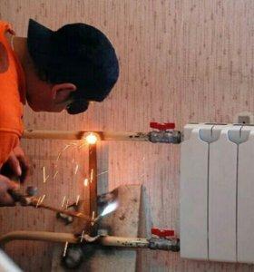 Замена радиатора отопления - батареи