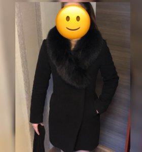 Пальто с песцом