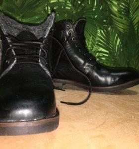 Кожаные ботинки мужские Kafe Moda