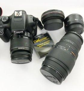 Canon 1100d +2 объектива