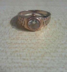 Кольцо позолоченное