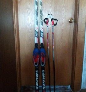 Детские лыжи. Комплект.
