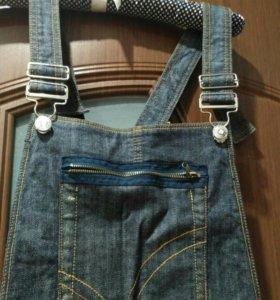 Комбинезон джинсовый юбка