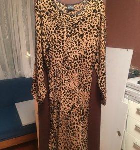 Женская туника-платье натуральный шёлк с бархатом