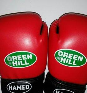 Боксерские перчатки Green Hill.Hamed.