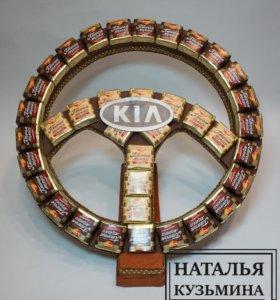 Руль из конфет (на подставке)