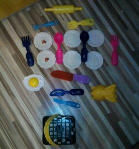 Н набор приборов с корзинкой для детской кухни
